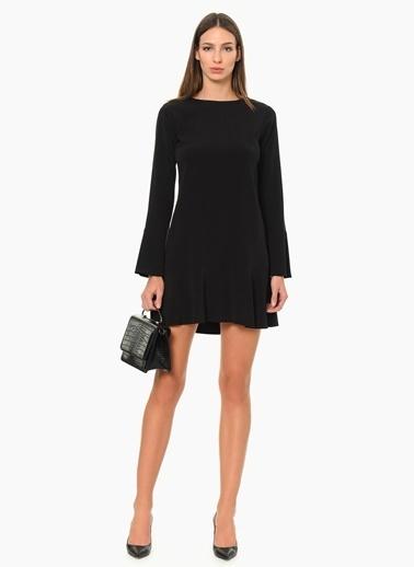 NetWork Uzun Kollu Mini Elbise Siyah